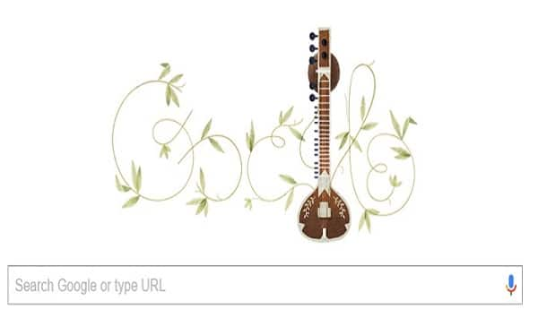 Google pays respects to late Pandit Ravi Shankar on his 96th birthday with a Doodle in his honour!