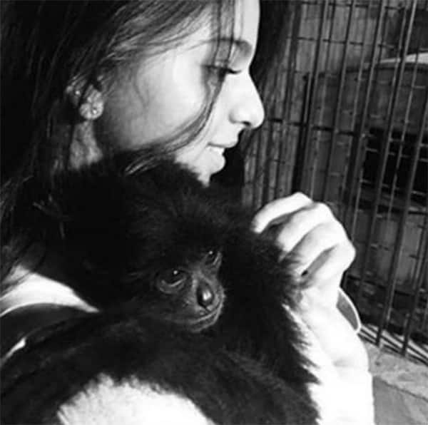 Shah Rukh Khan's daughter Suhana's latest pic with a baby chimp is oh-so-CUTE!