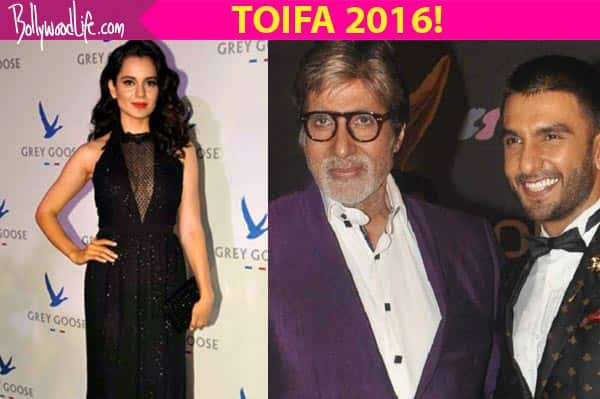TOIFA 2016 winners list: Amitabh Bachchan, Ranveer Singh, Kangana Ranaut take home the trophies!