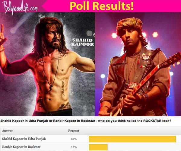 Declared! Shahid Kapoor's grungy look in Udta Punjab BEATS Ranbir Kapoor's hipster look in Rockstar!