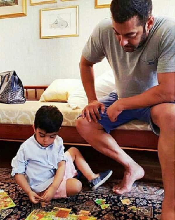 Salman Khan solving JIGSAW puzzle with this kid is CUTER than the CUTEST!