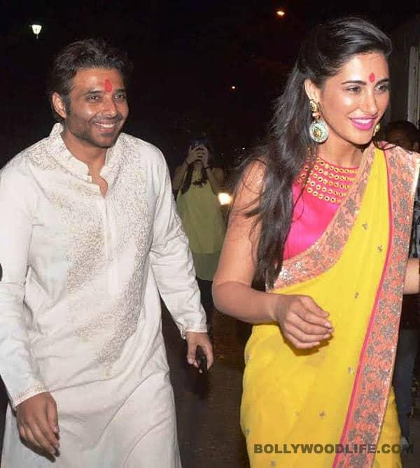 Uday Chopra and Nargis Fakhri at his Diwali party