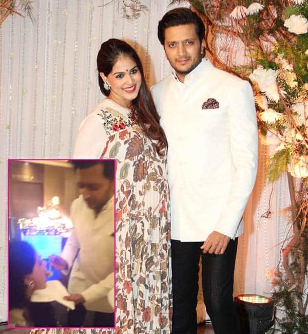 Riteish Deshmukh feeding his pregnant wife Genelia D'Souza at Karan-Bipasha's wedding will make you go AWWW – watch video!