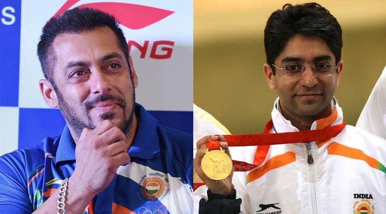 Salman Khan cheers for Abhinav Bindra as India's Goodwill ambassador at Rio Olympics – view pic!