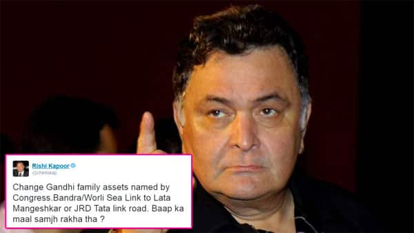 Rishi Kapoor's politically incorrect RANT on Twitter will terribly upset the Gandhis!