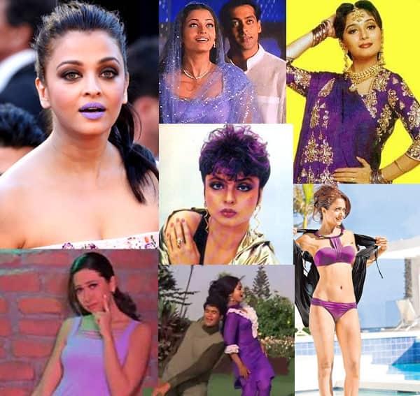 Aishwarya Rai Bachchan, Madhuri Dixit Nene, Karisma Kapoor, Rekha – 10 times B-Town beauties hit a purple patch!