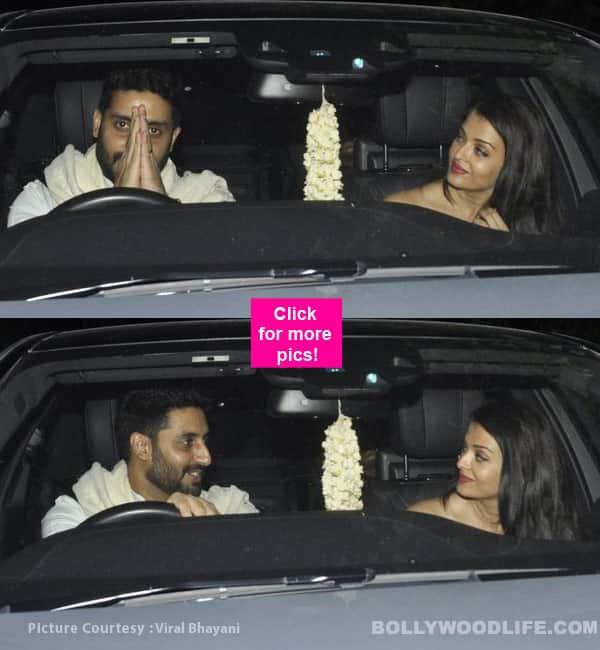 Aishwarya Rai and Abhishek Bachchan go on a romantic drive, put tiff rumours to rest – view HQ pics!