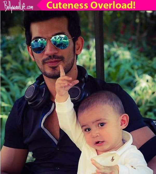 Naagin star Arjun Bijlani's son's recreation of Shah Rukh Khan's Gerua will make your day – watch video!