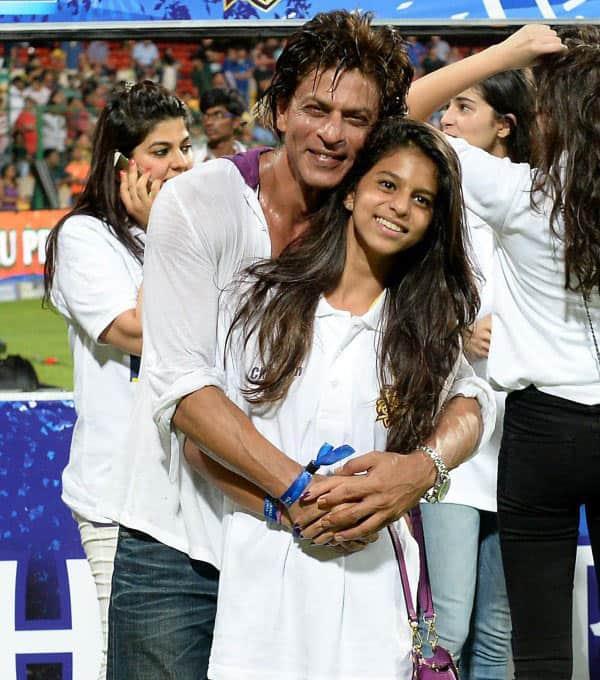Shahrukh Khan And His Daughter 2013