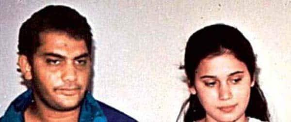 Mohammad-Azharuddin-with-his-first-wife-Naureen