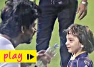Watch Shah Rukh Khan and AbRam goofing around at the IPL!