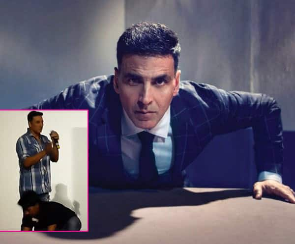 Akshay Kumar dares a fan with a challenge and this is what he does – watch video!