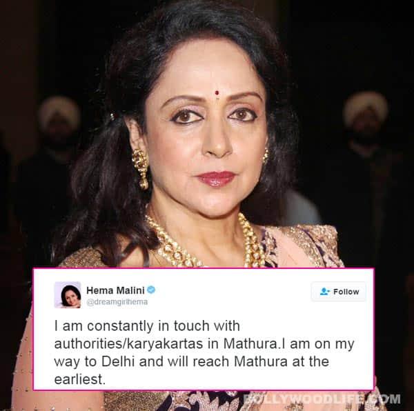 Mathura controversy: Hema Malini TROLLED for posting shoot pics, clarifies herself!