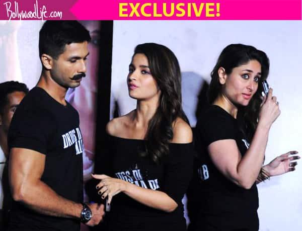 Did ex-lovers Shahid and Kareena's presence in Udta Punjab make Alia Bhatt AWKWARD? Watch video!