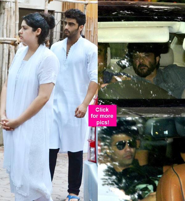 Arjun Kapoor, Anshula, Anil Kapoor, Karan Johar attend his maternal grandmother's funeral – view HQ pics