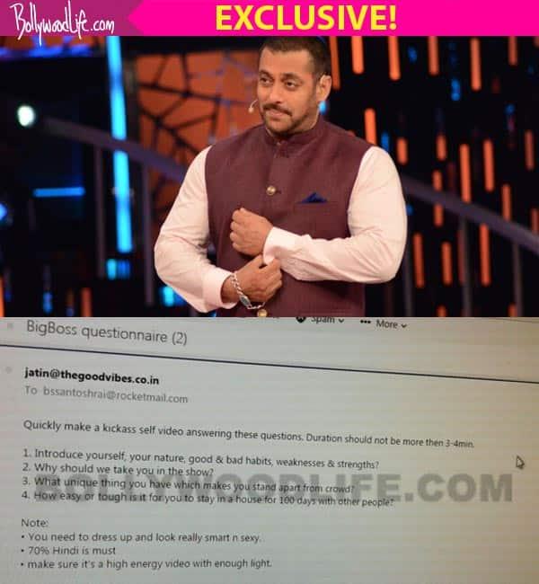 LEAKED! Salman Khan's Bigg Boss 10 contestants' TESTPAPER!