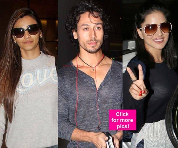 Tiger Shroff, Sunny Leone, Daisy Shah return from IIFA 2016 – view HQ pics