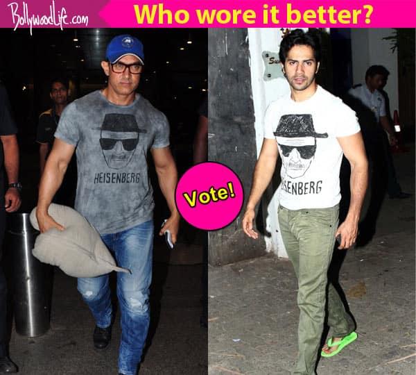 Aamir Khan or Varun Dhawan: Who rocks the Heisenberg T-shirt? Vote now