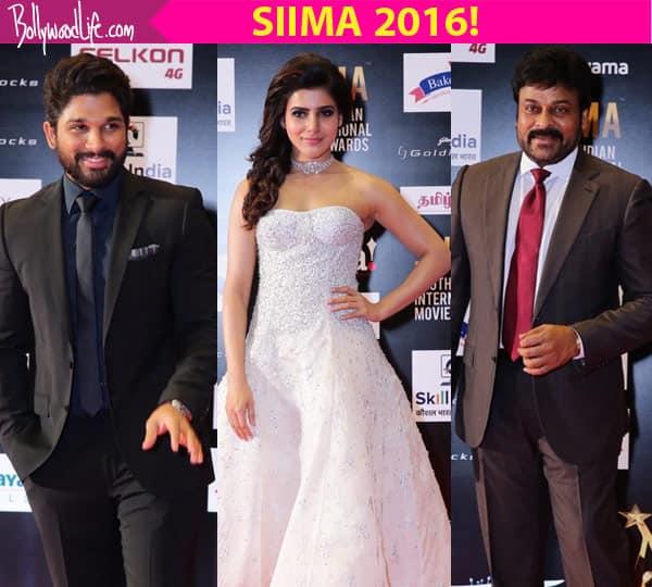 SIIMA Awards 2016 red carpet: Allu Arjun, Chiranjeevi