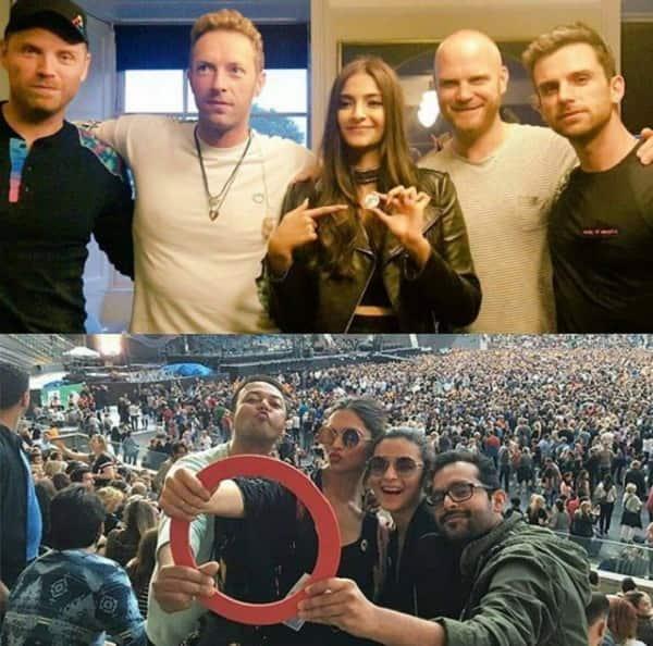 Coldplay concert Alia Deepika Sonam