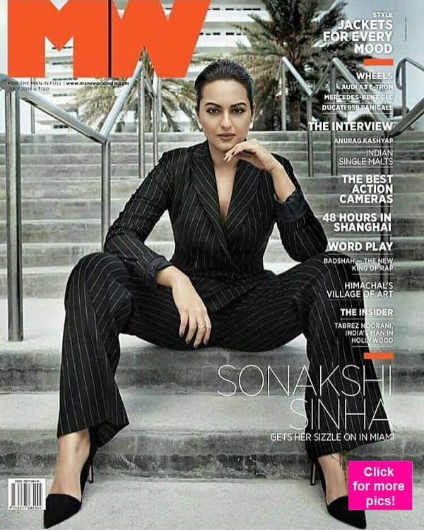 Forget Barney Stinson, Sonakshi Sinha would make you want to suit up in this latest mag cover!
