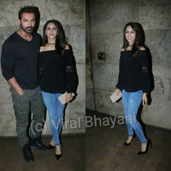 This pic of John Abraham and wife Priya Runchal attending Dishoom screening will DEFINITELY shut all the divorce rumours!
