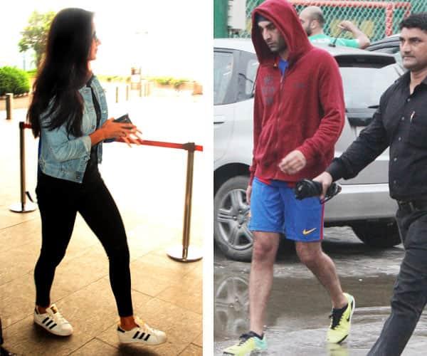 While Ranbir Kapoor plays football, ex girlfriend Katrina Kaif leaves for London – view HQ pics!