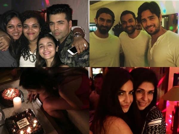 Alia Bhatt, Siddharth Malhotra, Karan Johar join Katrina Kaif's birthday bash! View inside pics