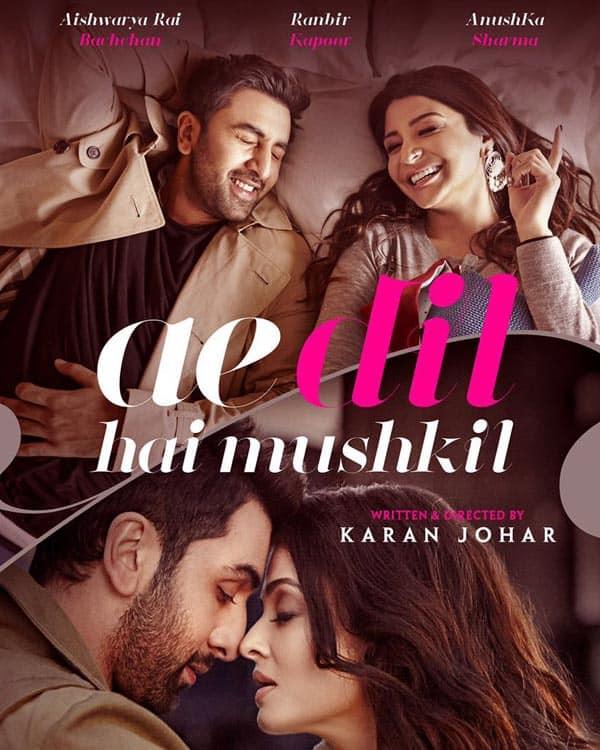 Ae Dil Hai Mushkil teaser poster: Ranbir Kapoor, Aishwarya Rai and Anushka Sharma's love triangle will intrigue you!