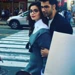 What's happening? Alia Bhatt and Varun spotted COZYING up in the middle of a street - view pic!