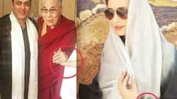 Iulia Vantur once again CROPPED out of the pic with Salman Khan and Dalai Lama!