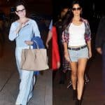 Katrina Kaif's HOT pants or Kangana Ranaut's COOL blue dress - what's your airport fashion pick?