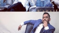 When MS Dhoni tried to imitate Rajinikanth's iconic Kabali pose and he came pretty close!