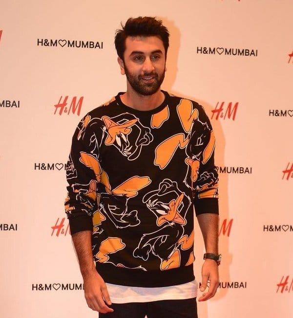 cool ranbir Kapoor at H&M