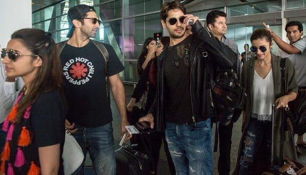 Sidharth Malhotra, Alia Bhatt, Katrina Kaif arrive in ...