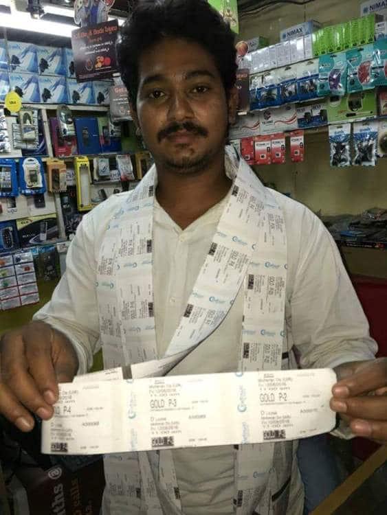 fan with 70 mohenjo daro tickets