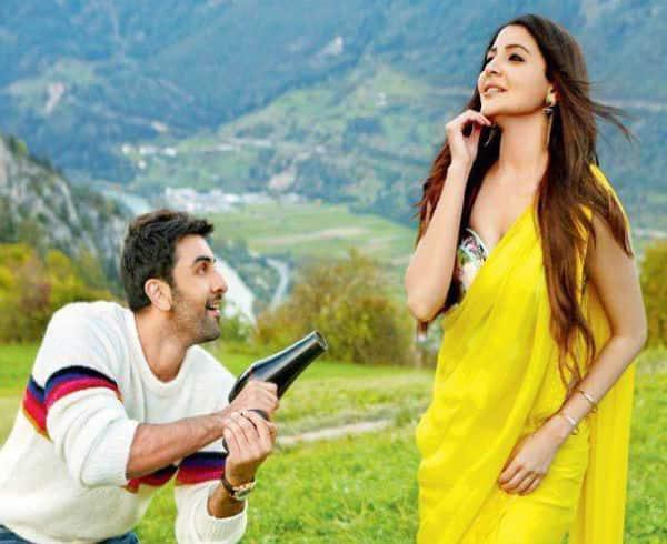 Ae Dil Hai Mushkil new still: Ranbir can't take his eyes off Anushka in a yellow chiffon saree