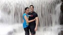 Aman Verma and Vandana Lalwani enjoy a rainy break – view pics!