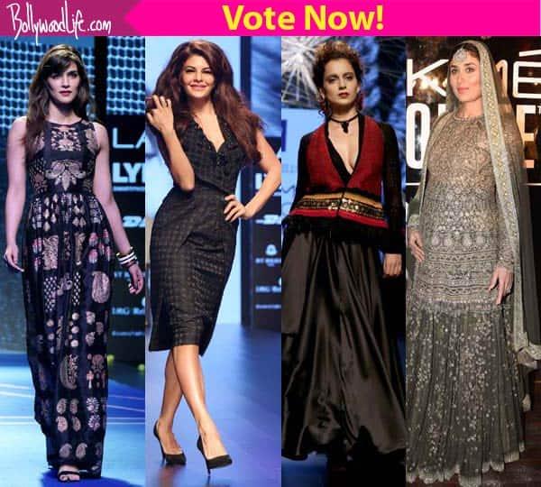 Kareena Kapoor Khan, Jacqueline Fernandez, Kriti Sanon, Kangana Ranaut- which showstopper wowed you the most at the Lakme Fashion Week 2016?