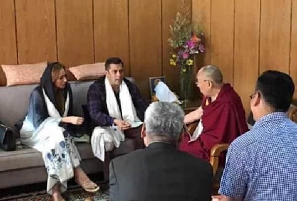 Salman Khan was accompanied by Iulia Vantur during his meet with Dalai Lama