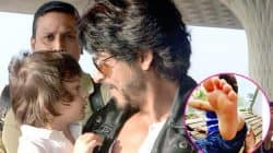 Ouch!AbRam Khan just kicked his daddy Shah Rukh Khan