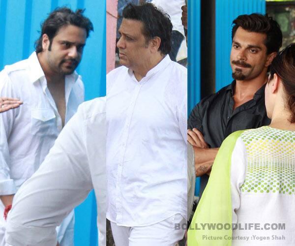 Govinda, Yashvardan, Karan Singh Grover attend the funeral of Krushna Abhishek's father – view HQ pics!