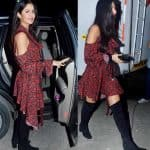 Katrina Kaif cold shouldering with knee high boots is as fresh as fresh can get! - view HQ pics