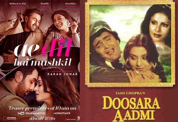 Ranbir Kapoor and Anushka Sharma's Ae Dil Hai Mushkil is NOT a remake of Rishi Kapoor's Doosra Aadmi – here's why!