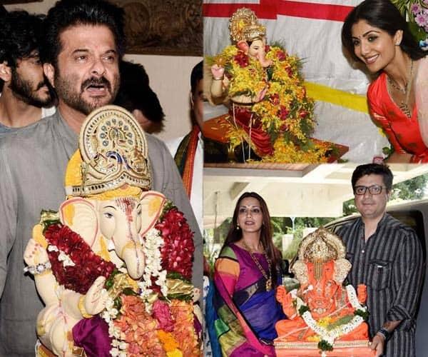Shilpa Shetty, Anil Kapoor, Sonali Bendre bid adieu to their Ganesha – view pics!