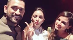 Kiara Advani has a fan moment with MS Dhoni and his wife Sakshi – view pic!