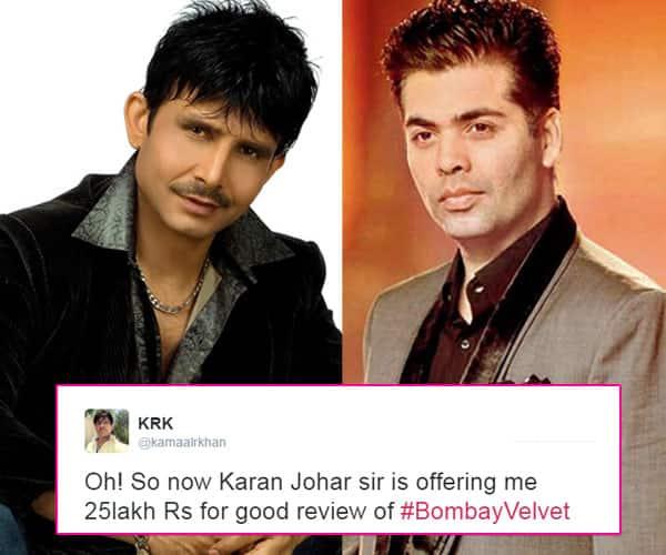 BUSTED! Kamaal R Khan's lie about Karan Johar paying him Rs 25 lacs to defame Shivaay!