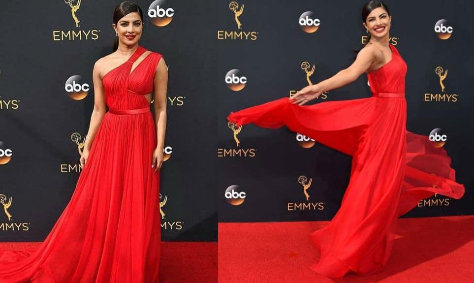2016 Emmy Awards: Priyanka Chopra knocks 'em dead in this GORGEOUS red carpet look!