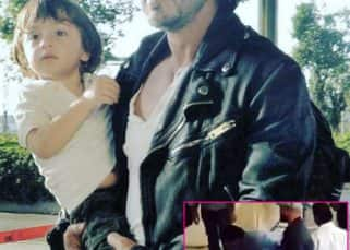 Shah Rukh Khan and AbRam's cuteness at the airport might just DELAY a few flights - watch video!