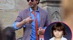 Shah Rukh Khan's new unseen pics with son AbRam while on schedule of The Ring- view pics!